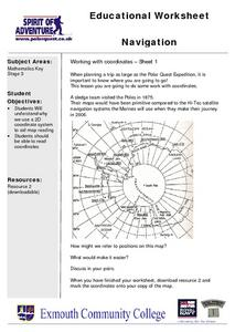 Navigation, Working With Coordinates Lesson Plan