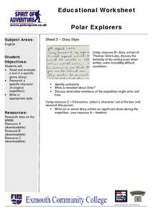 Polar Explorers Lesson Plan