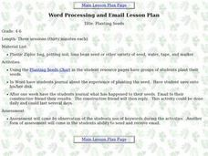 Planting Seeds (word processing and email) Lesson Plan