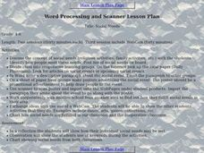 Social Needs:  Word Processing and Scanner Lesson Plan Lesson Plan