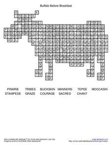 Buffalo Before Breakfast Worksheet