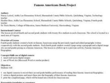 Famous Americans Book Project Lesson Plan
