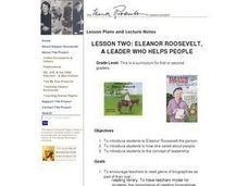 Eleanor Roosevelt, A Leader Who Helps People Lesson Plan