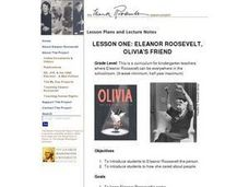 ELEANOR ROOSEVELT, OLIVIA'S FRIEND Lesson Plan