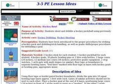 Hockey Bowl Lesson Plan