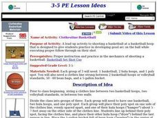 Clothesline Basketball Lesson Plan