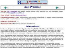 Ballroom Dance Lesson Plan