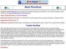 Cosmic Bowling Lesson Plan