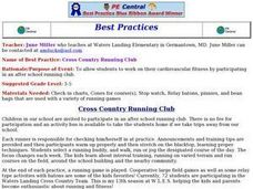 Cross Country Running Club Lesson Plan