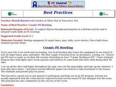 Cosmic PE Bowling Lesson Plan