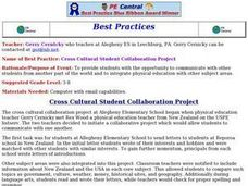 Cross Cultural Student Collaboration Project Lesson Plan