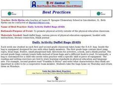 Daily Activity Duffel Bags Lesson Plan