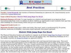 District Wide Jump Rope For Heart Lesson Plan