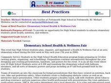 Elementary School Health and Wellness Fair Lesson Plan