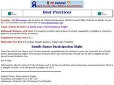 Family Dance Participation Night Lesson Plan