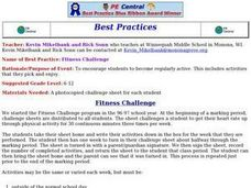 Fitness Challenge Lesson Plan