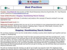 Hugging / Handshaking Muscle Stations Lesson Plan