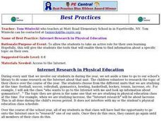 Internet Research in Physical Education Lesson Plan