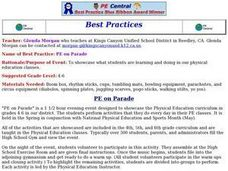 PE on Parade Lesson Plan