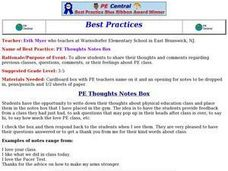 PE Thoughts Notes Box Lesson Plan