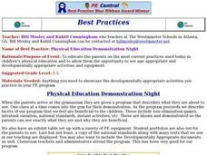 Physical Education Demonstration Night Lesson Plan