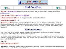 Pirate PE Field Day Lesson Plan