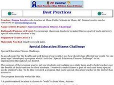 Special Education Fitness Challenge Lesson Plan