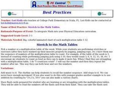 Stretch to the Math Tables Lesson Plan