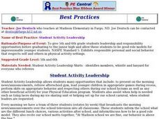 Student Leadership Activity Lesson Plan