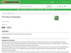 The Story of Kwanzaa Lesson Plan