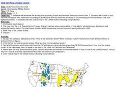 Coal Production in the USA Lesson Plan