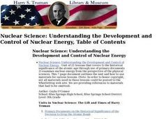 Nuclear Science: Understanding the Development and Control of Nuclear Energy Lesson Plan