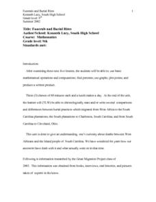 Funerals and Burial Rites Lesson Plan