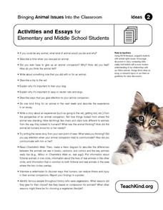Bringing Animal Issues Into the Classroom Worksheet