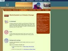 World Summit on Climate Change Lesson Plan