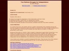 Two Nations Struggle for Independence Lesson Plan