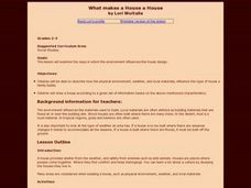What Makes a House a House Lesson Plan