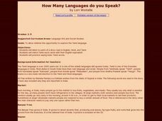 How Many Languages do you Speak? Lesson Plan