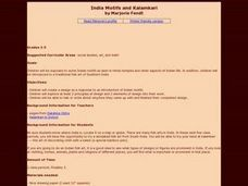 India Motifs and Kalsmkari Lesson Plan
