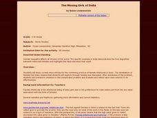 The Missing Girls of India Lesson Plan