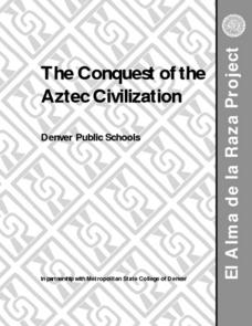 The Conquest of the Aztec Civilization Lesson Plan