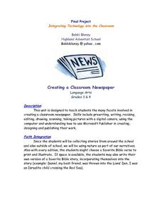 Creating A Classroom Newspaper Lesson Plan