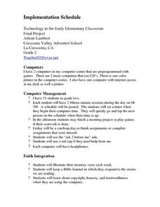 Technology in 2nd Grade Lesson Plan