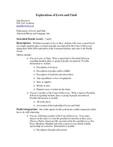 Explorations of Lewis and Clark Lesson Plan
