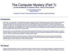 The Computer Mystery Lesson Plan