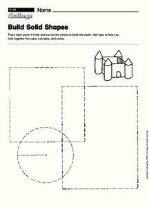 Build Solid Shapes Worksheet