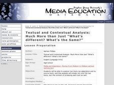 "Textual and Contextual Analysis: Much More than Just ""What's Different"" What's the Same?"" Lesson Plan"
