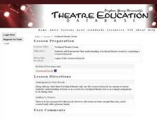 Technical Theatre Terms Lesson Plan