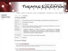 Acting Skills Lesson Plan