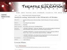 Analysis using Aristotle's Six Elements of Drama Lesson Plan